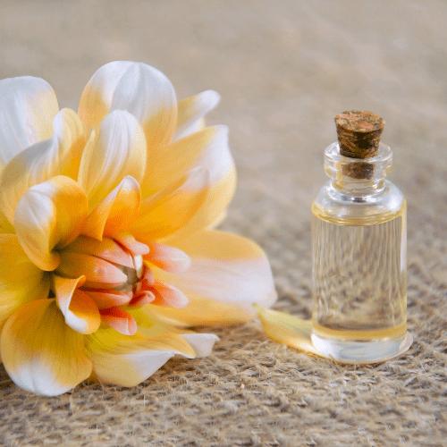 flacon huile végétale cosmétique