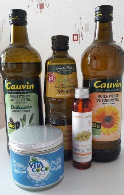huiles alimentaires cosmétiques