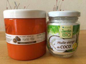 huile de coco et beurre de karité pour crème naturelle lèvres gercées