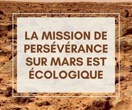 Mission persévérance Mars